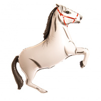 108cm Shape Horse White Foil Balloon #2515774P - Each Please note that this product is supplied in plain packaging.