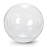 Crystal Ball Clear 90cm Balloons #JTCB90 - Each (Unpackaged) (90cm is length of half the circumference when fully inflated) Sizing & Inflation Ins